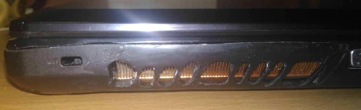 ремонт корпуса в ноутбуке